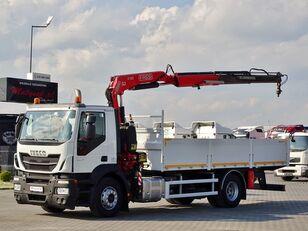 IVECO STRALIS 310 / 4X2 / BOX - 6,2 M + CRANE FASSI F155 / RADIO COMMA camión caja abierta