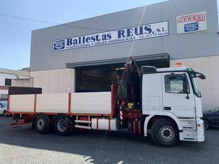 MERCEDES-BENZ ACTROS 2536 FASSI 235 camión caja abierta