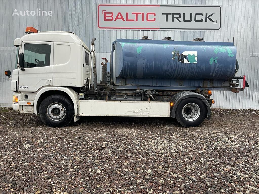 SCANIA P94-300, 4x2 HOOKLIFT + WATER TANK camión cisterna