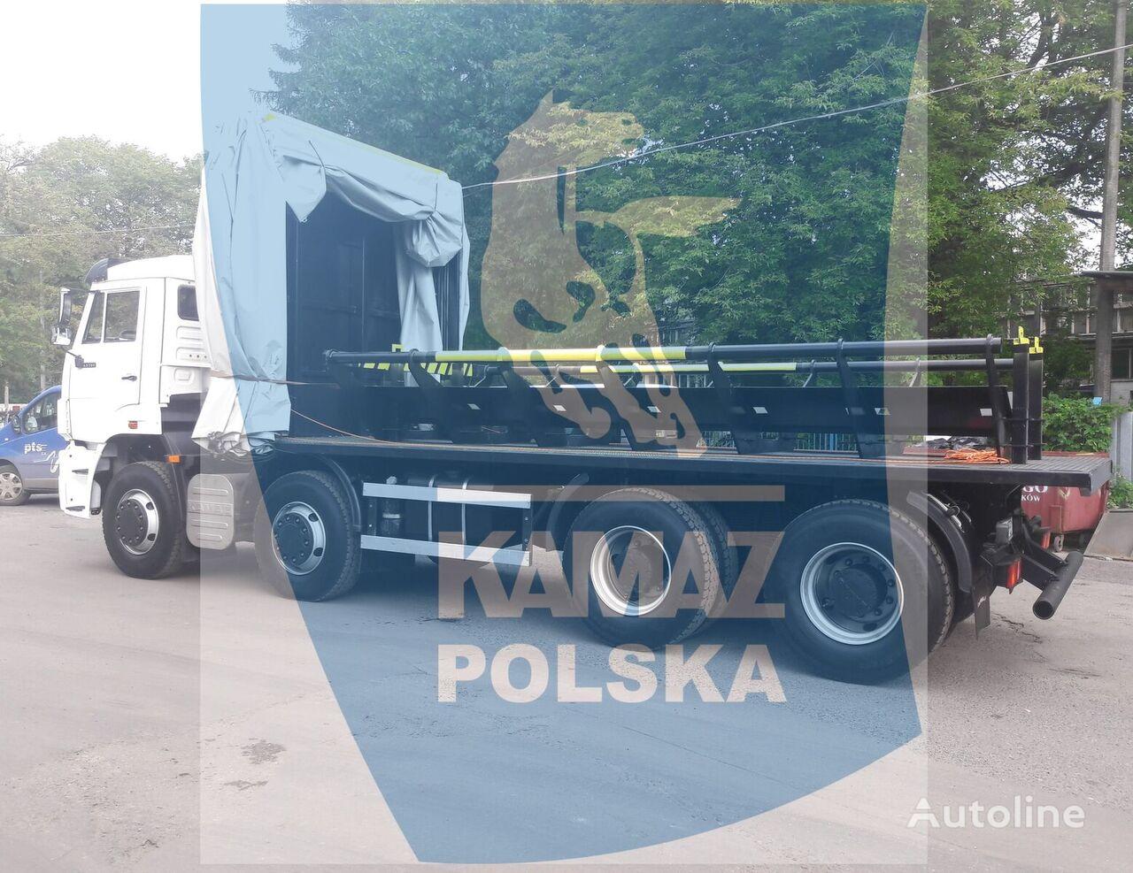 KAMAZ 8x4 for transporting steel coils camión plataforma nuevo
