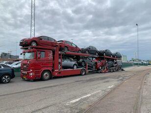 SCANIA 580 V8 KTT Metago/Supertrans 10-Autos Euro6 camión portacoches + remolque portacoches