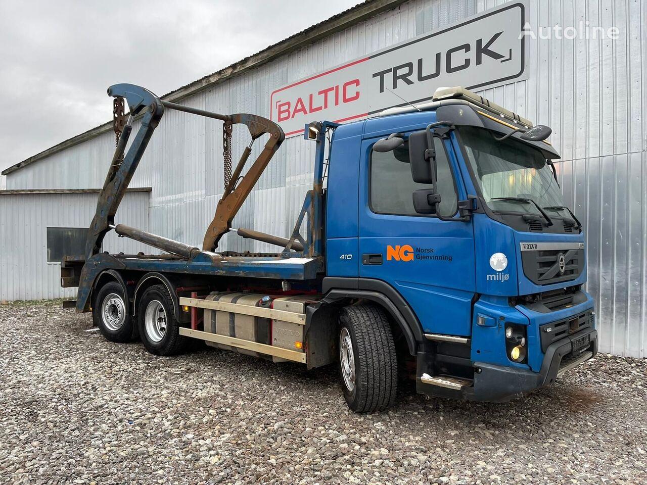 VOLVO FMX 410, 6x2 LIFTDUMPER camión portacontenedores