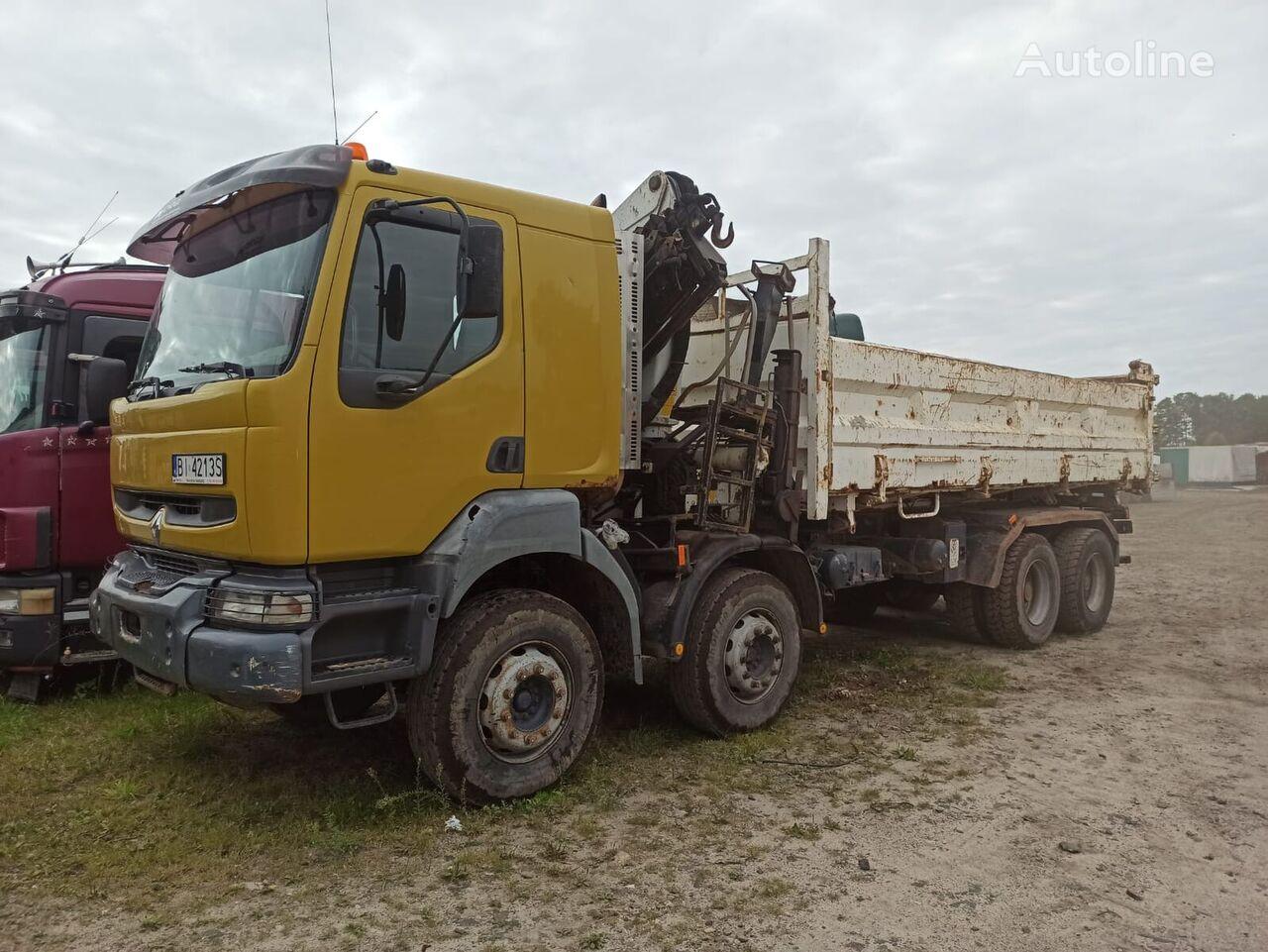 RENAULT KERAX 8x4 HYDROBURTA HDS PALFINGER, 280000 KM volquete