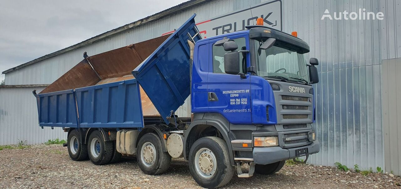 SCANIA R420, 3-SIDE TIPPER volquete