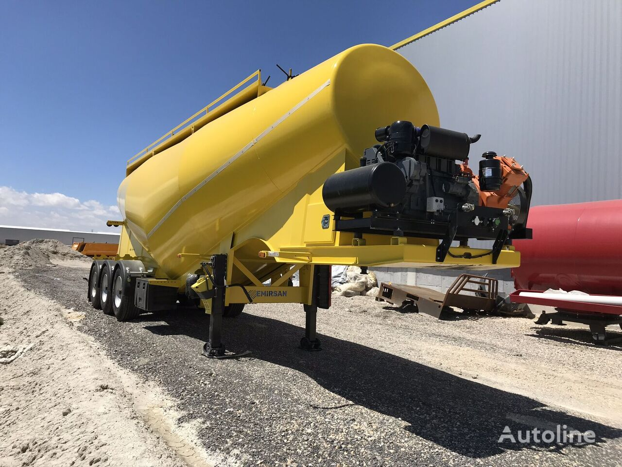 EMIRSAN Customized Cement Tanker Direct from Factory  cisterna de cemento nueva