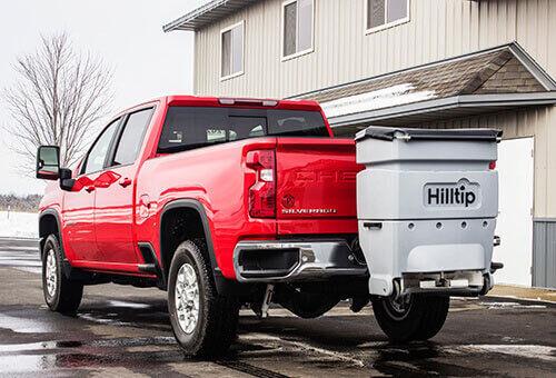 Hilltip IceStriker™ 120 & 200 Tailgate spreader for pickups, tractors, l esparcidor suspendido de sal nuevo