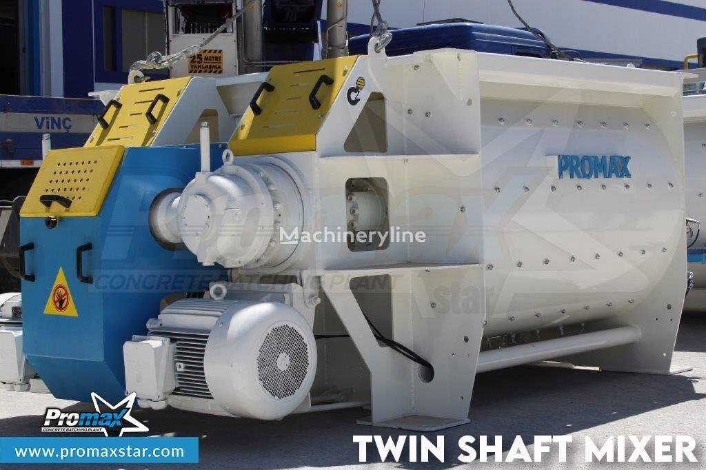 PROMAX 2 m3 /3 m3 TWIN SHAFT MIXER hormigonera nueva