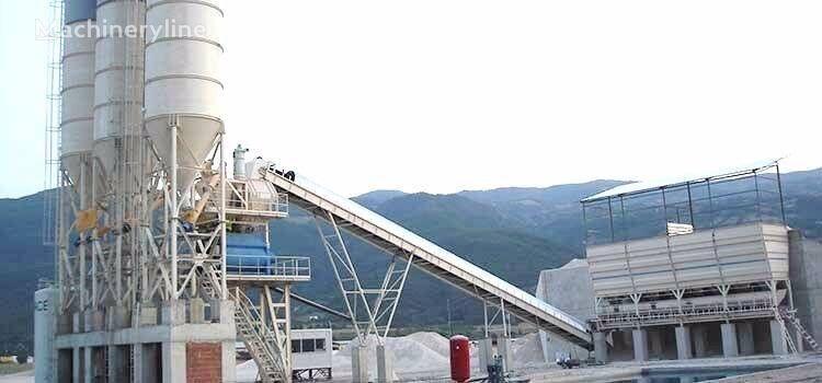 CONSTMACH 120 m3/h CAPACITY STATIONARY TYPE CONCRETE PLANT, 2 YEARS WARRAN planta de hormigón nueva