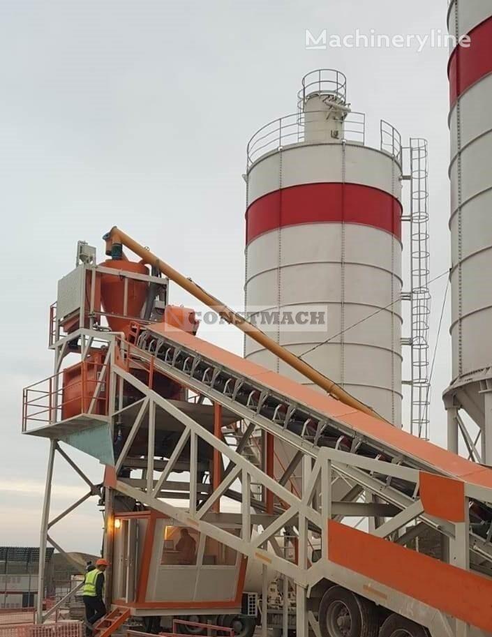 CONSTMACH 120 m3/h MOBILE CONCRETE PLANT WITH 2 x 500 TONNES CEMENT SILO planta de hormigón nueva