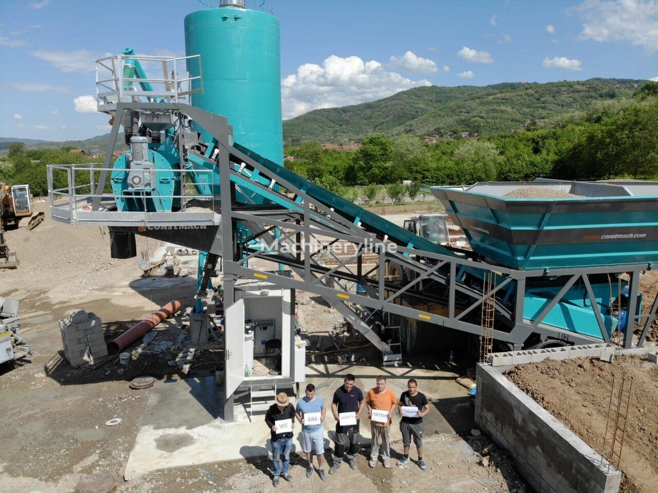 CONSTMACH 30 m3/h MOBILE CONCRETE PLANT, BEST PRICE & QUALITY planta de hormigón nueva