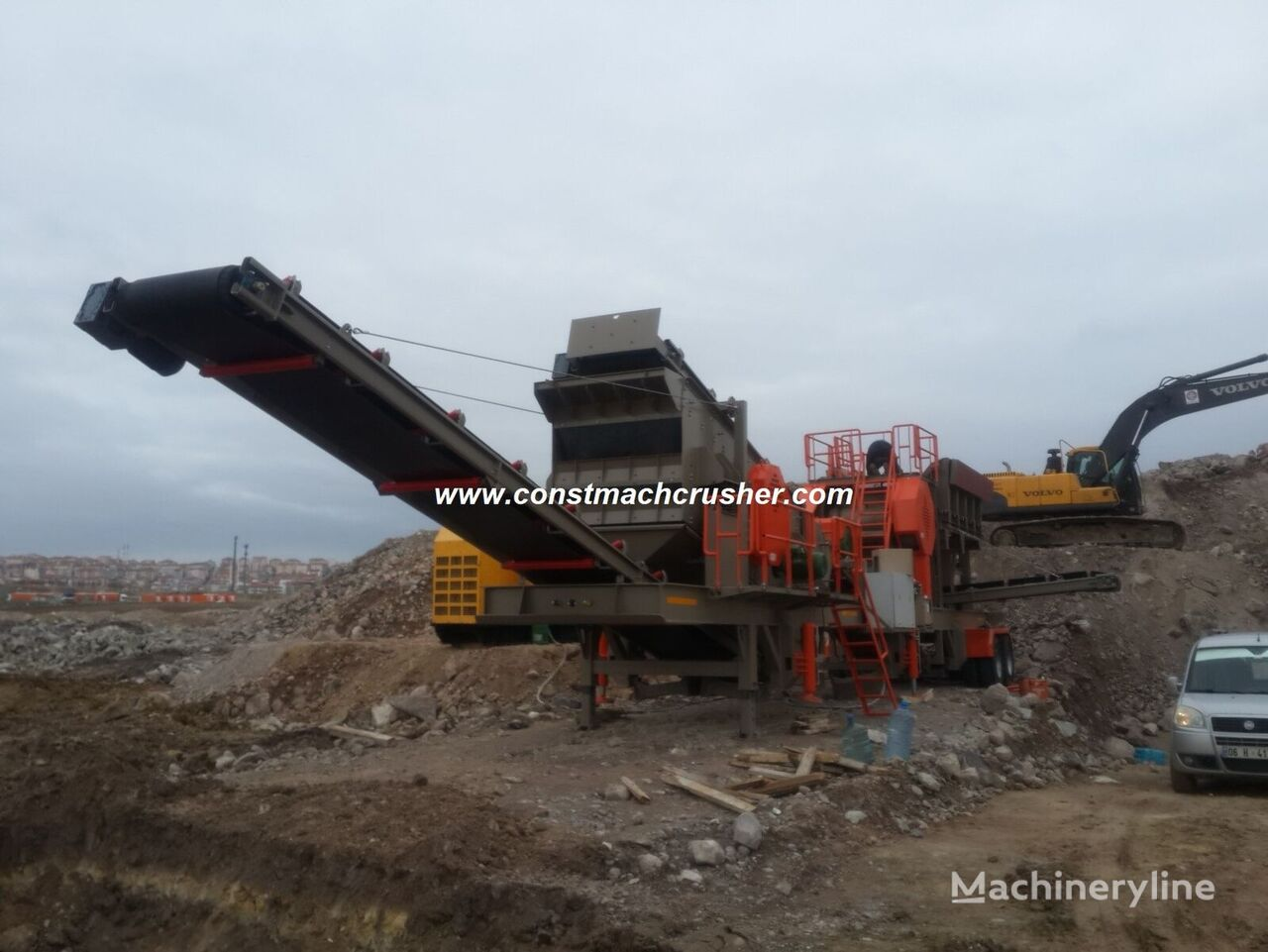 CONSTMACH MOBILE JAW CRUSHER, DELIVERY FROM STOCK planta trituradora móvil nueva