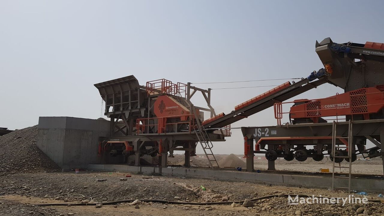 CONSTMACH MOBILE JAW and IMPACT CRUSHER, 2 YEARS WARRANT, 150 tph CAPACITY planta trituradora nueva