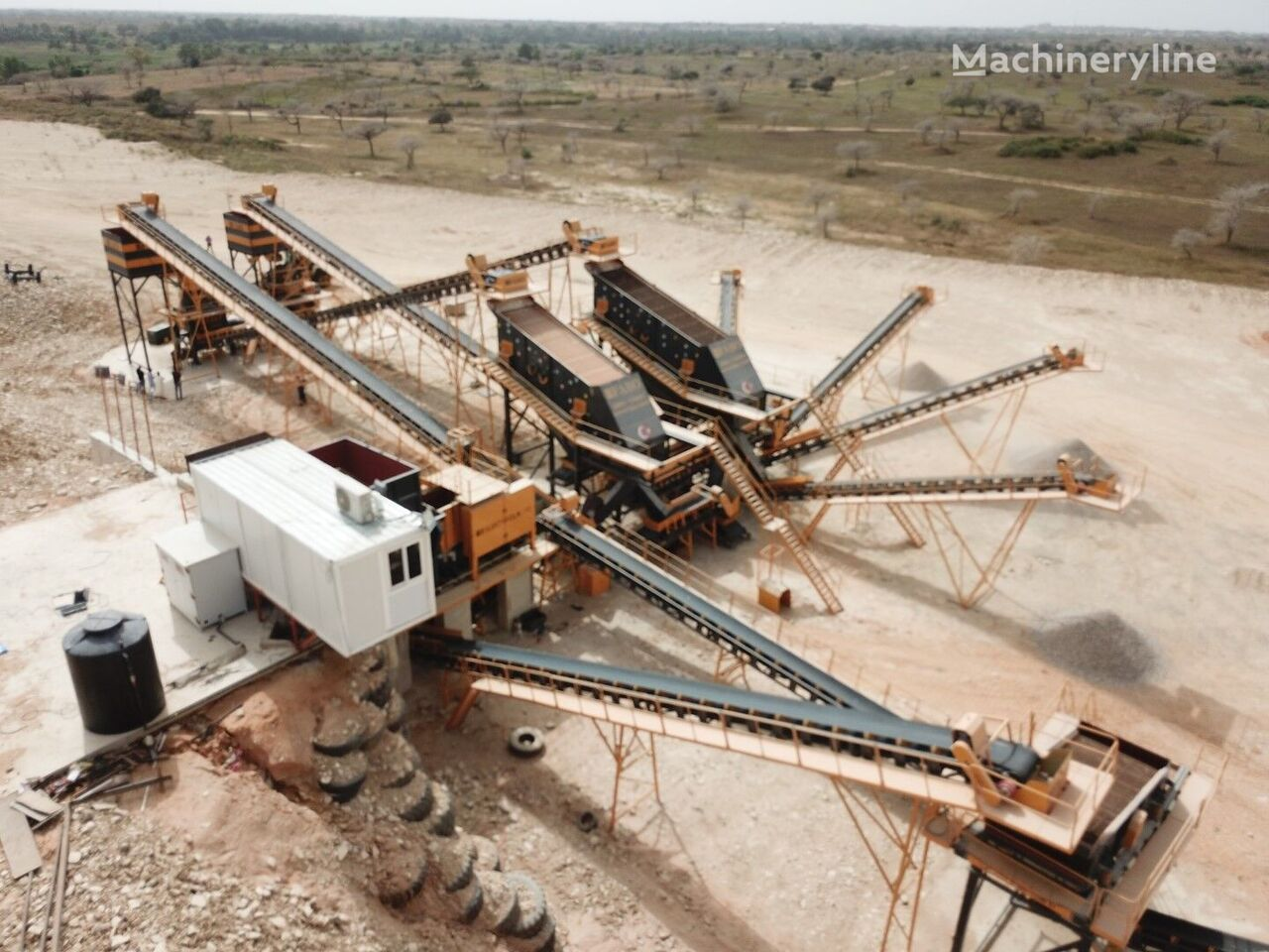 FABO STATIONARY TYPE 200-350 T/H HARDSTONE CRUSHING & SCREENING PLANT planta trituradora nueva