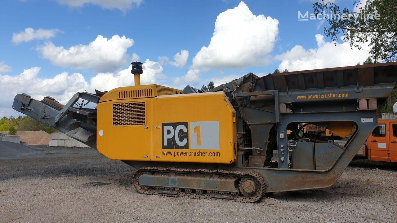 HARTL PC1 Powercrusher 32t mobil Brecher Crusher Prallmühle CAT C9 planta trituradora