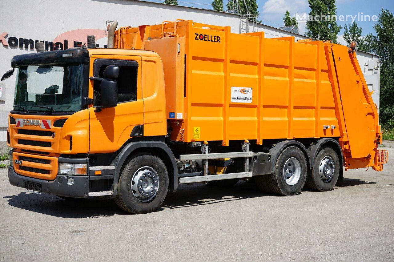 SCANIA P380 śmieciarka trzyosiowa Zoeller 22m3 EURO 5 camión de basura