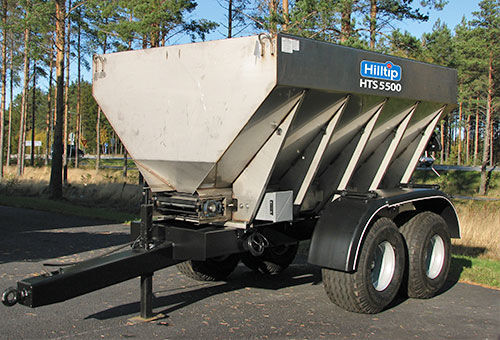 HILLTIP HTS 3000-10500 Stainless Steel esparcidor remolcado nuevo