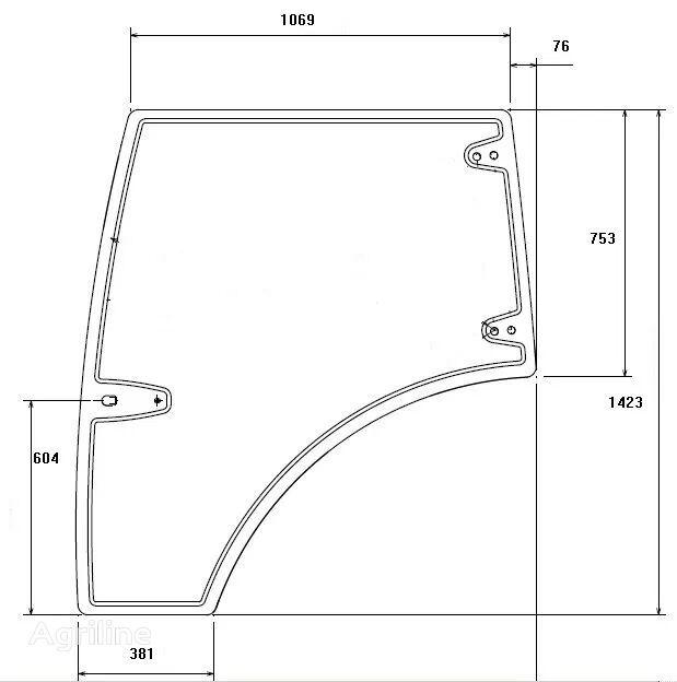 URSUS C-380, C-392, 11054, C-3110 ventanilla lateral para URSUS DOOR GLASS LH tractor nueva