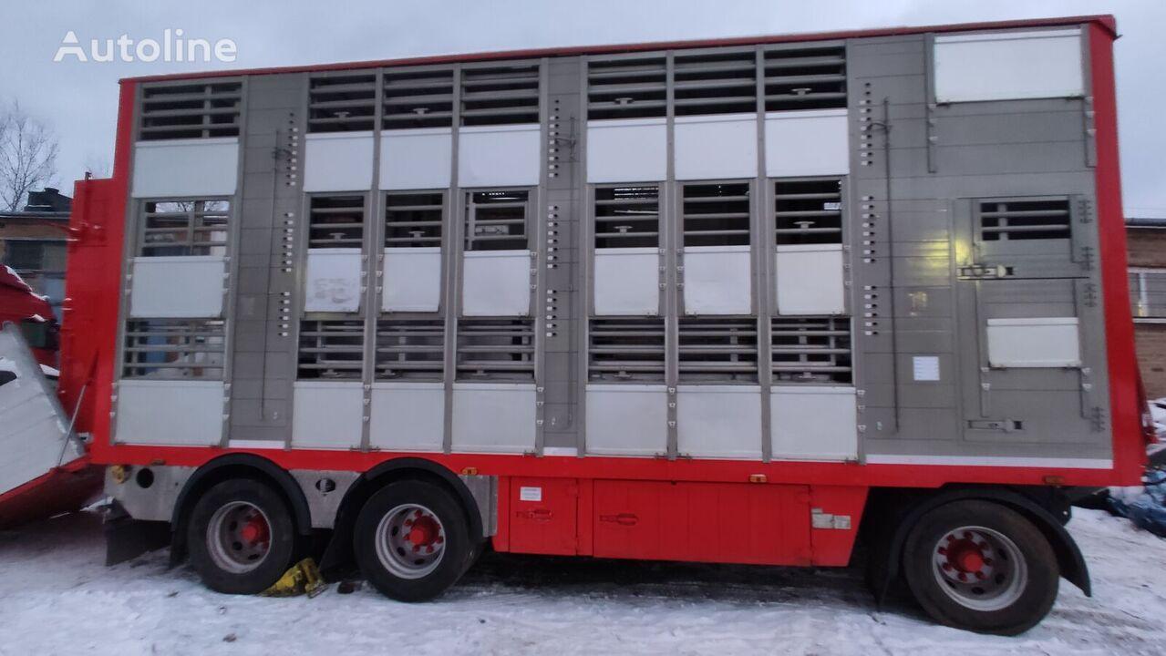 PEZZAIOLI 3 stock, lifting roof, water,2 remote remolque para transporte de ganado